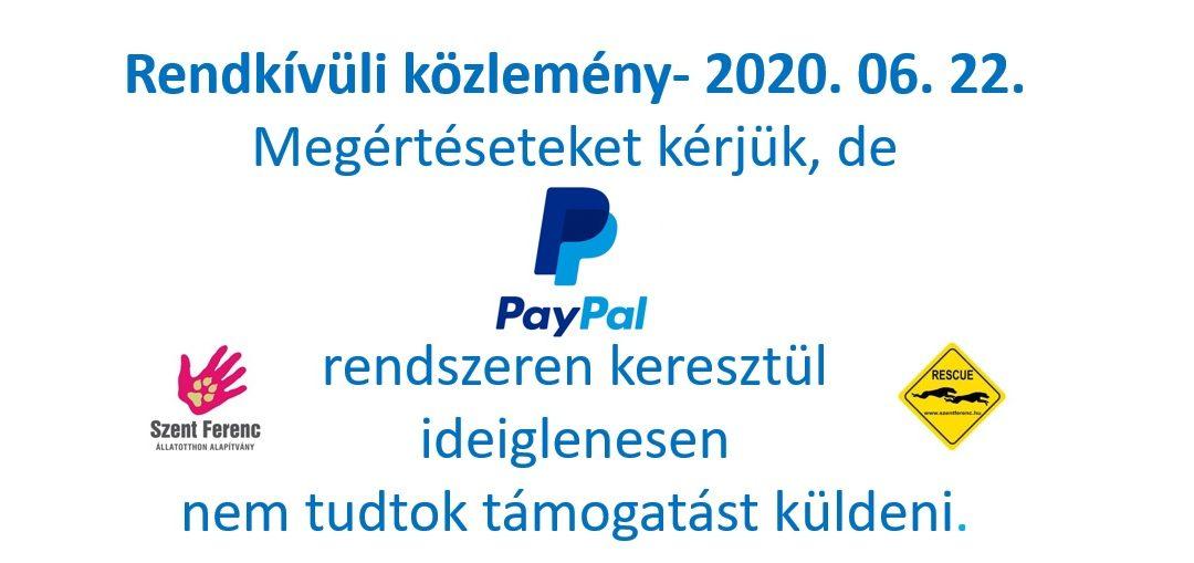 KÖZLEMÉNY – 2020. 06. 22.
